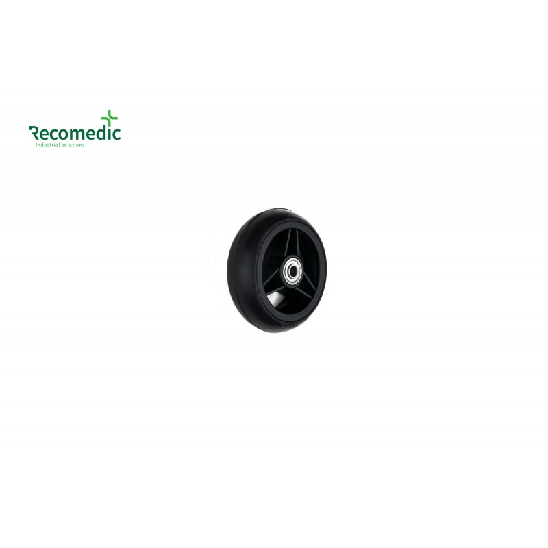 wheel 100/32 solid rubber black