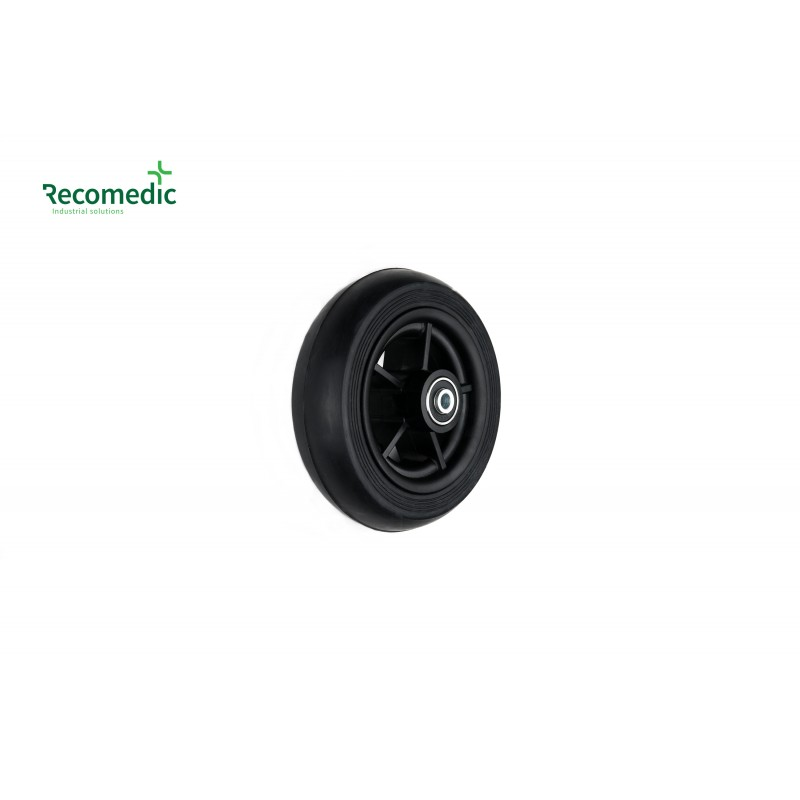 wheel 140/40 solid rubber black