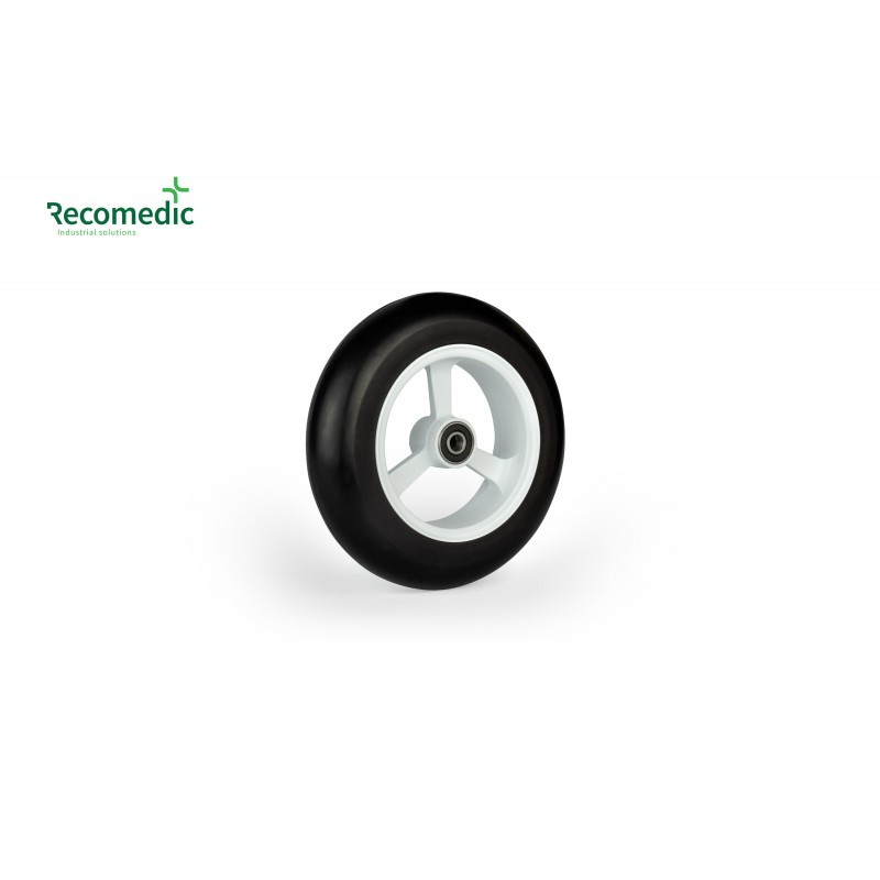 wheel 150/36 PU, rim aluminium white