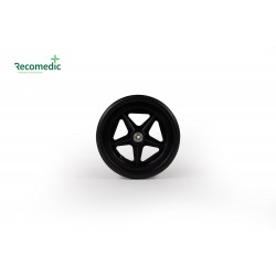 wheel 180/32 PU black, rim plastic