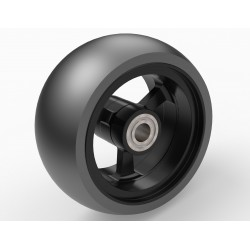 wheel 78/36 PU, rim aluminium black