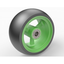 wheel 78/36 PU, rim aluminium green