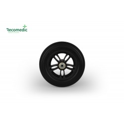 wheel 175/42 PU black, rim plastic