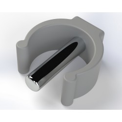 clips for tube 25mm grey