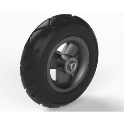 wheel 175/40 PU black, rim plastic