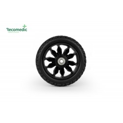 wheel 150/40 PU /black, five spokes
