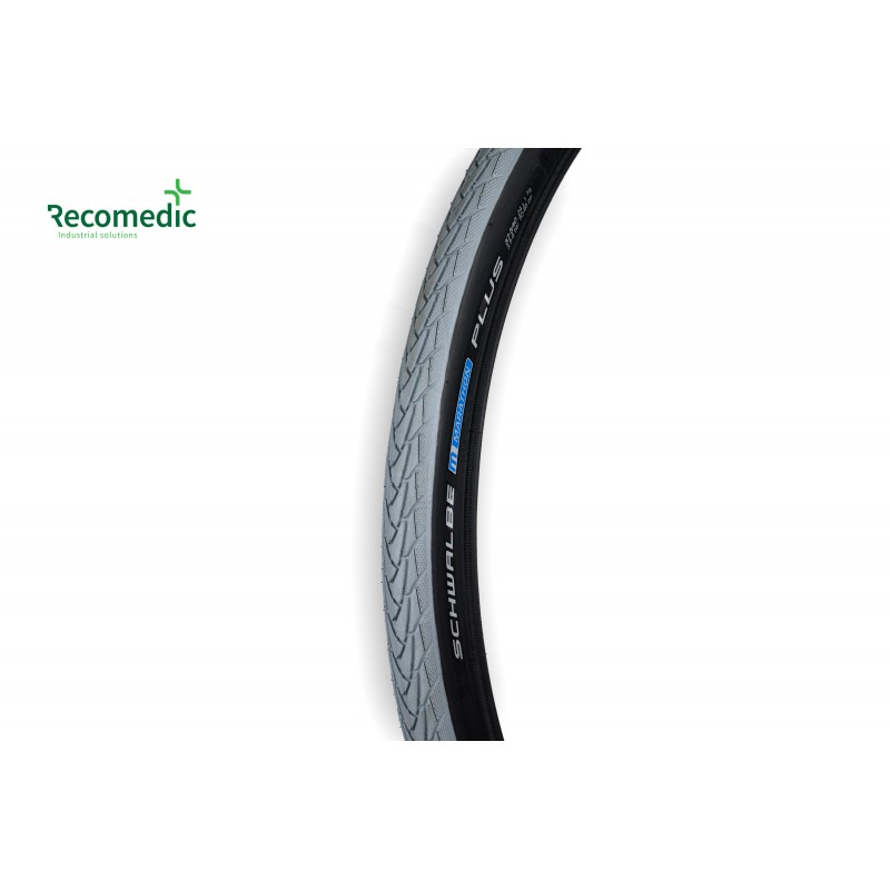 tyre 24x1.3/8 Marathon Plus, black and grey, smooth sides