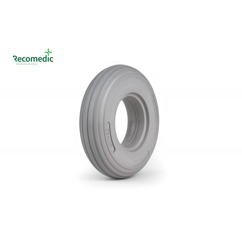 tyre PU 8x2 grey, lines